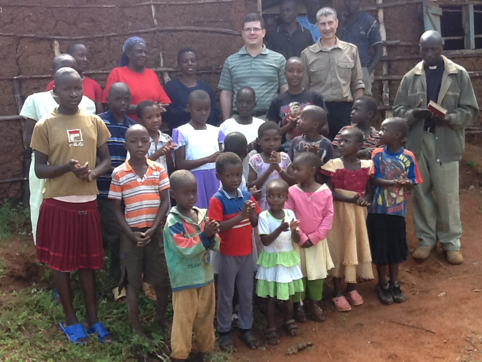 Pastor Moline (sans clergy shirt) and Bob Wurl in Kenya