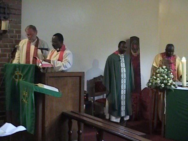 Me preaching at Uhuru Highway