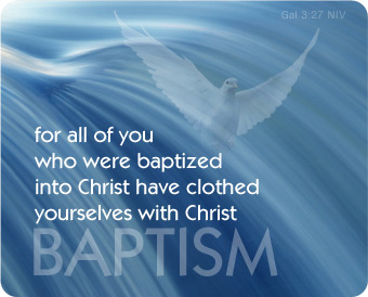 baptism clothed with Christ