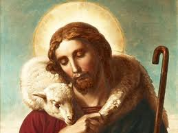 jesus and lamb on shoulder