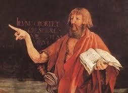 John the baptist pointing