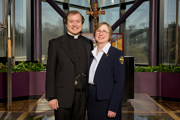 Portrait of the Rev. Jonathan Naumann and Deaconess Cheryl Naumann at the International Center chapel of The Lutheran Church–Missouri Synod on Monday, Feb. 29, 2016, in Kirkwood, Mo. LCMS Communications/Erik M. Lunsford